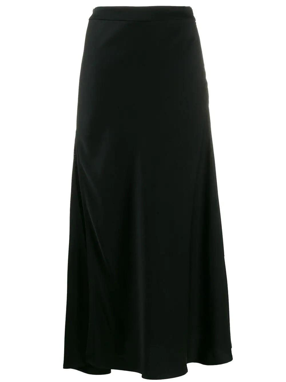 Suite One Bias High Slit Skirt