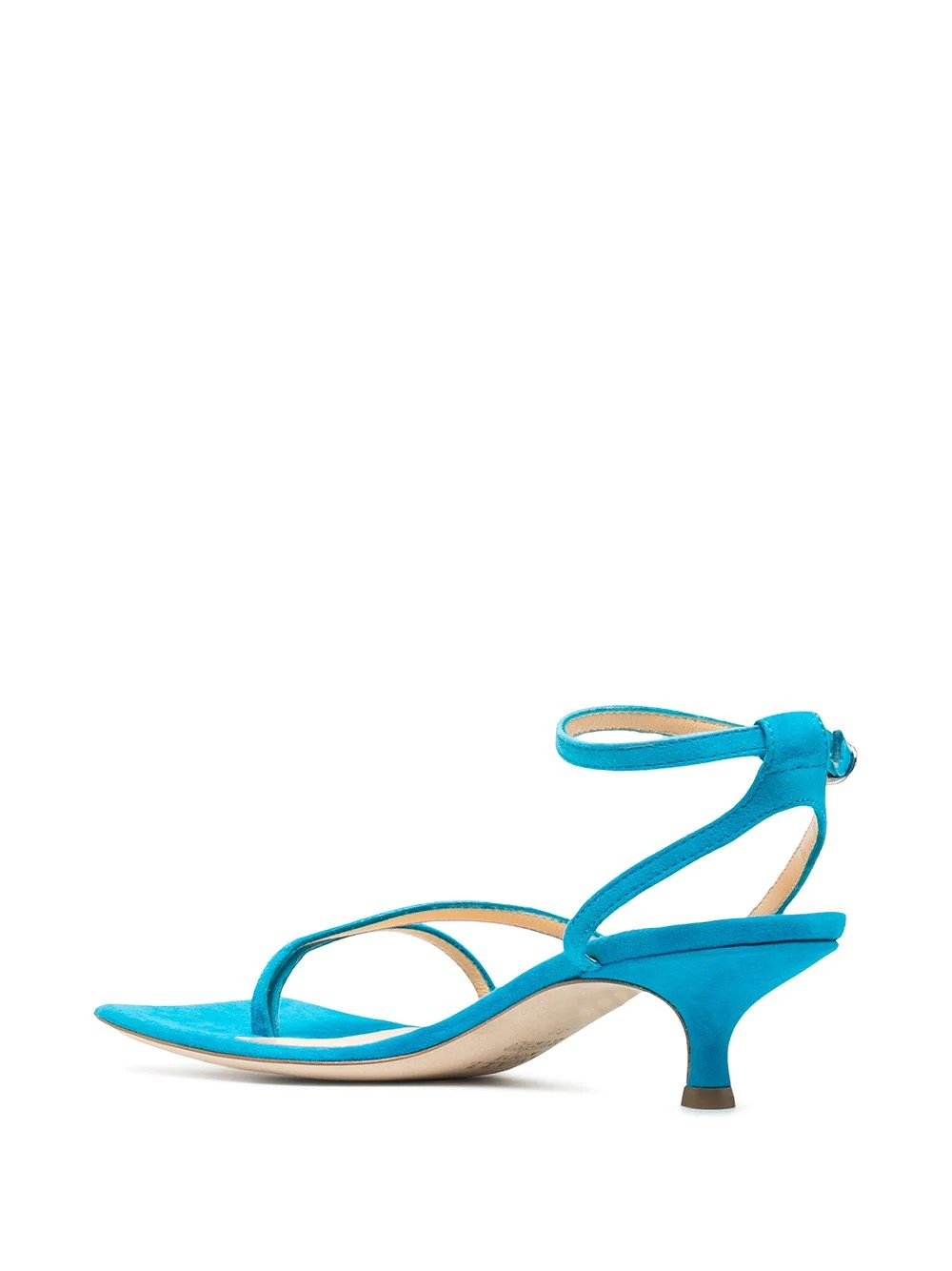 KITTEN HEEL ASYMMETRIC STRAPPY SANDALS