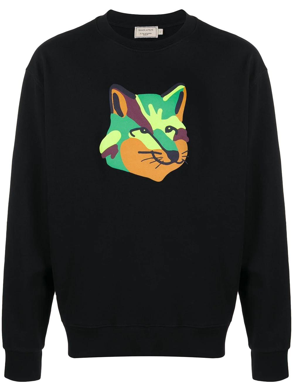SWEATSHIRT NEON FOX PRINT