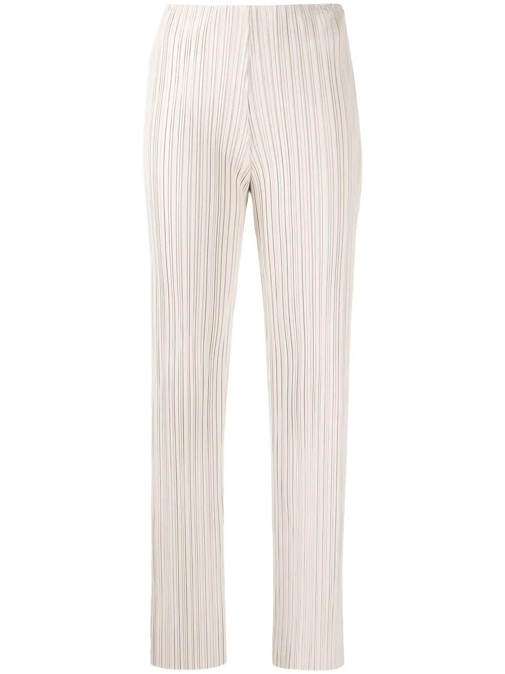 straight leg pleat pants