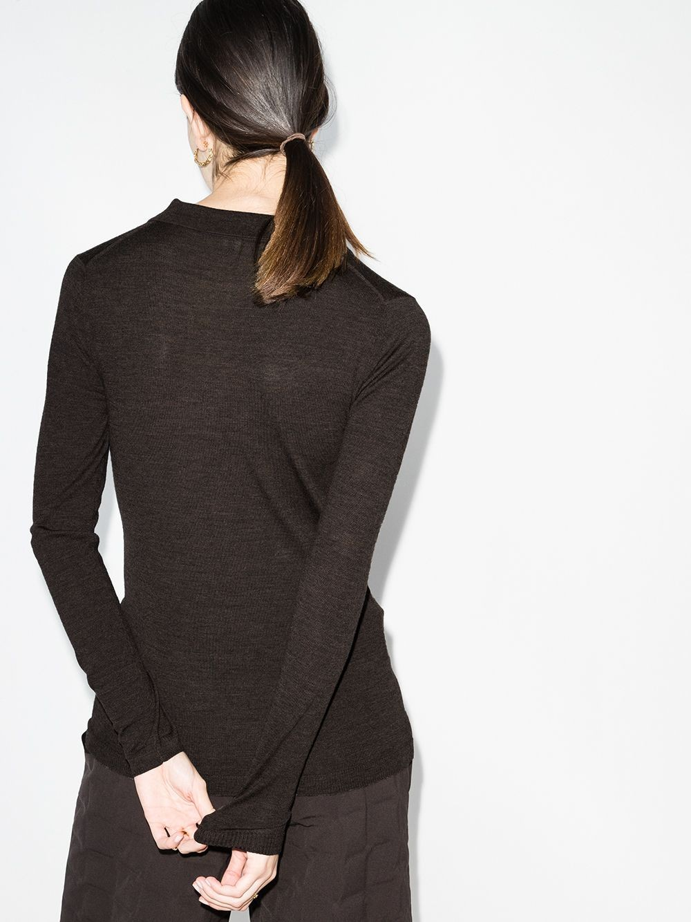 MERINO WOOL SWEATER WITH COLLAR AND BUTTONS