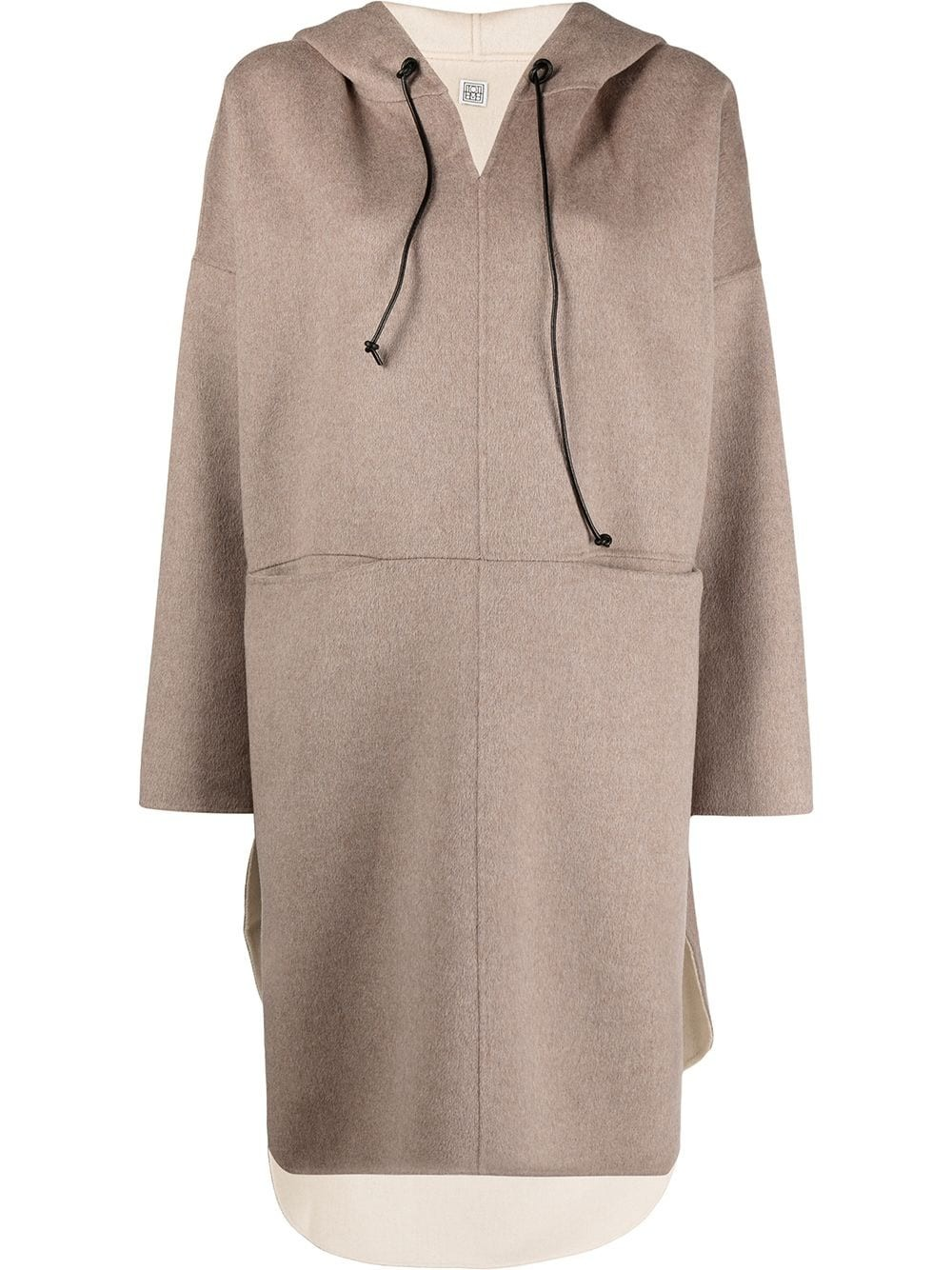 WOOL CASHMERE PULLOVER COAT
