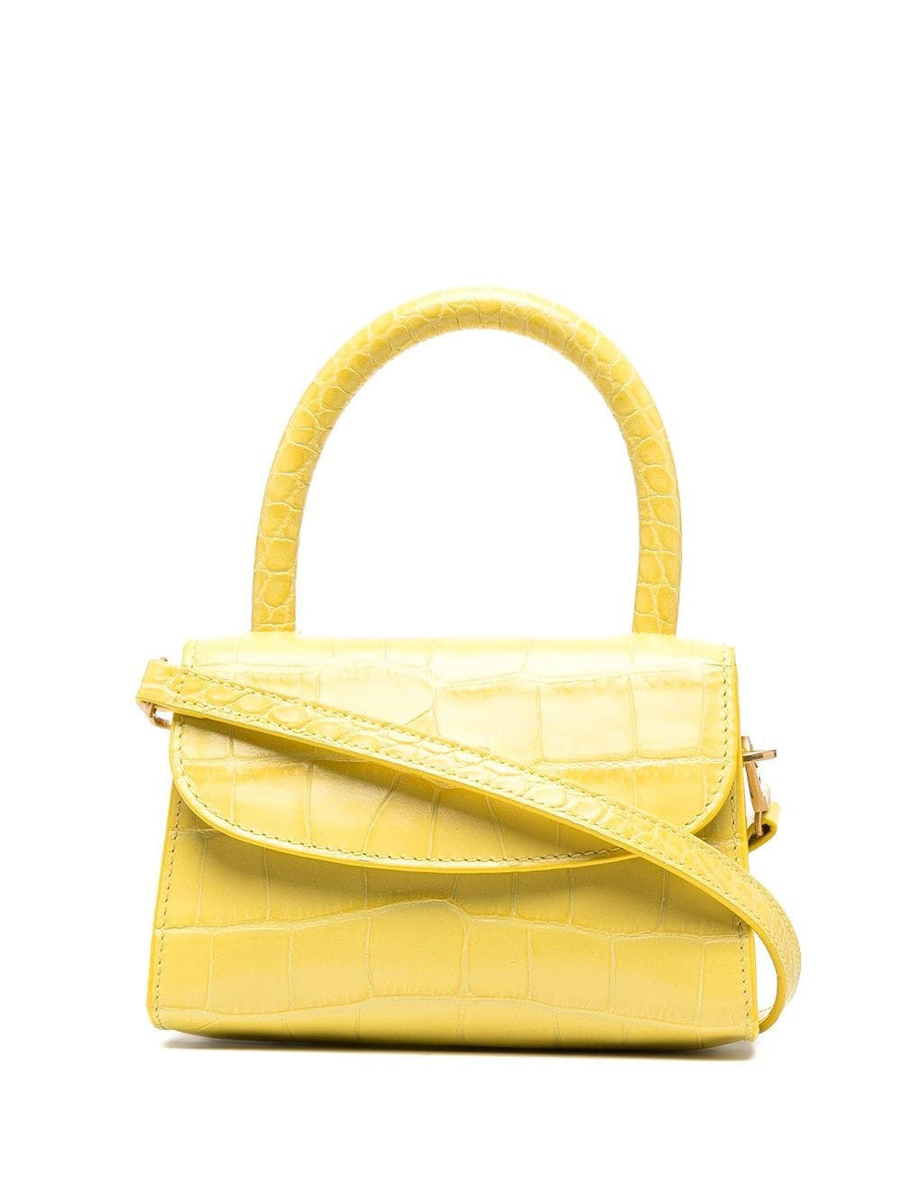 Mini Custard Croco Embossed Leather