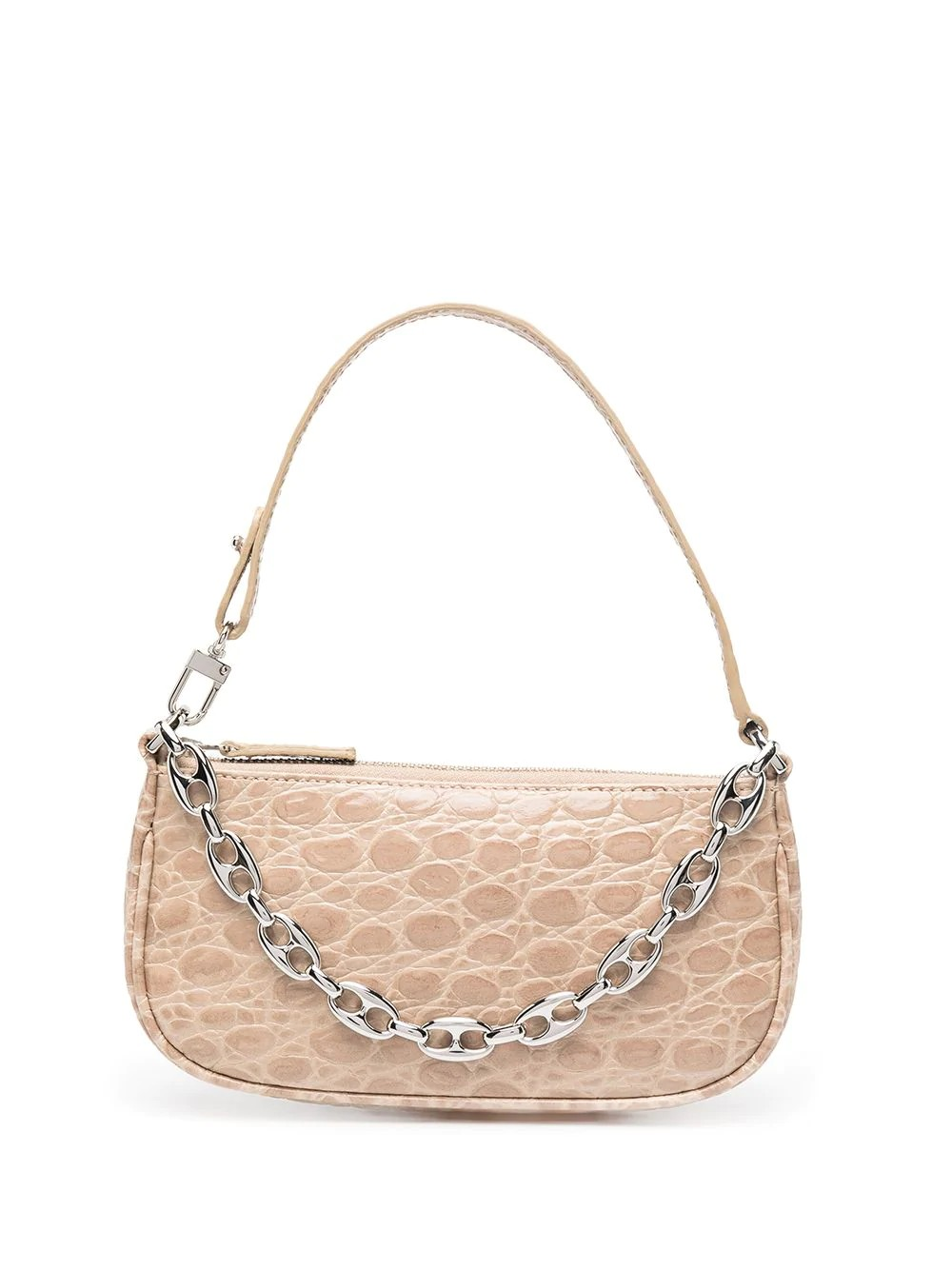 Mini Rachel Clay Circular Croco Embossed Leather