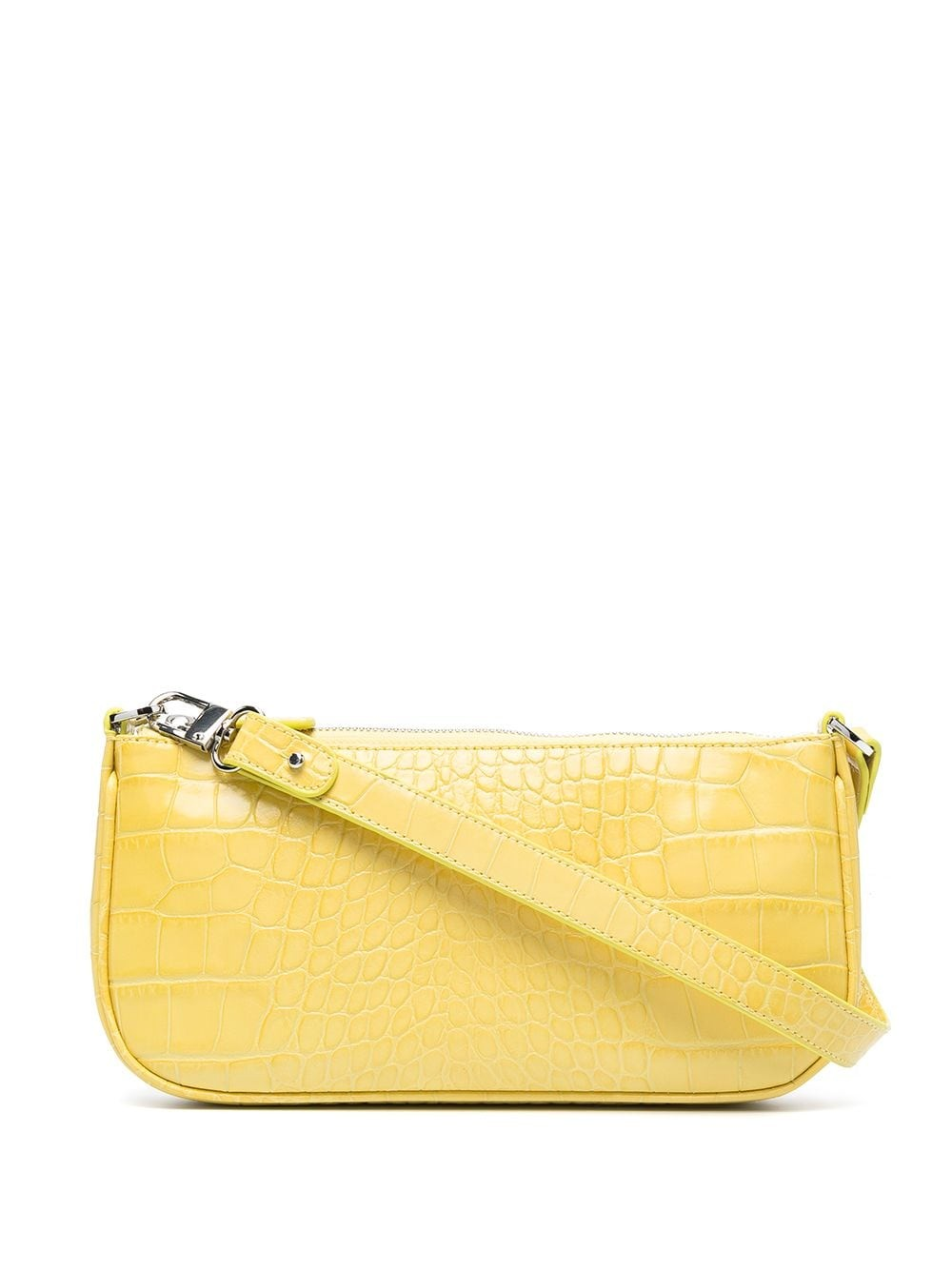 Rachel Custard Croco Embossed Leather