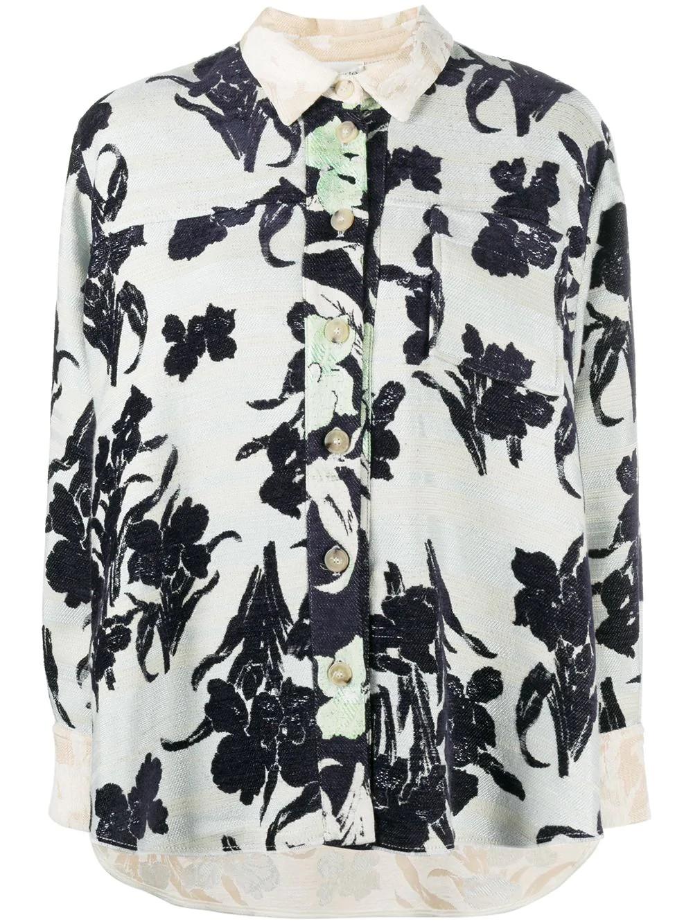 over shirt jacquard  bloom