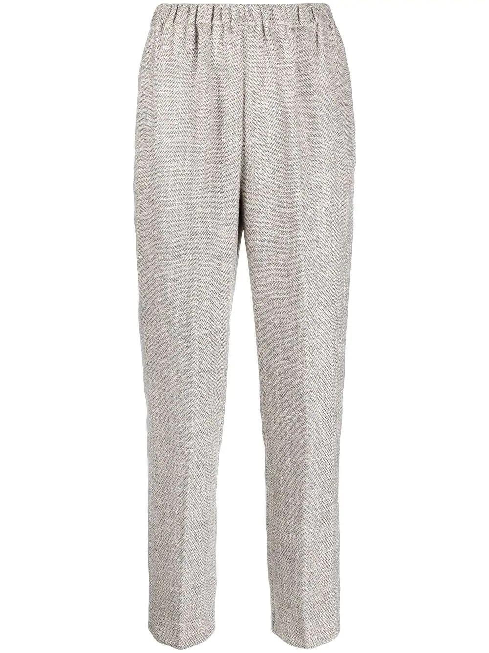 pantalone elastico resca lino cotone