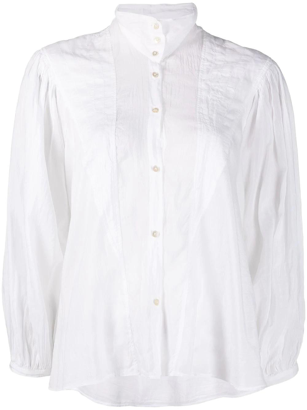 camicia bohemienne collo alto voile cose