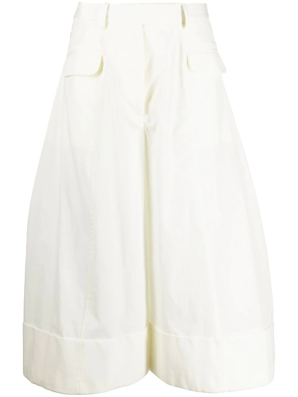 SCULPTED WIDE LEG TROUSERS