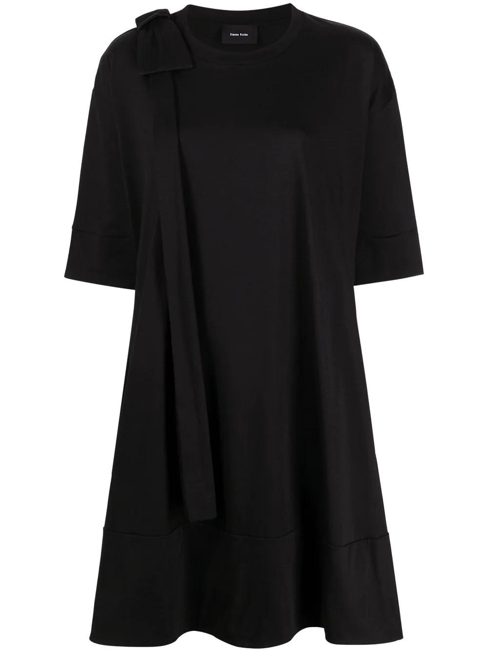 SHOULDER BOW TUNIC DRESS