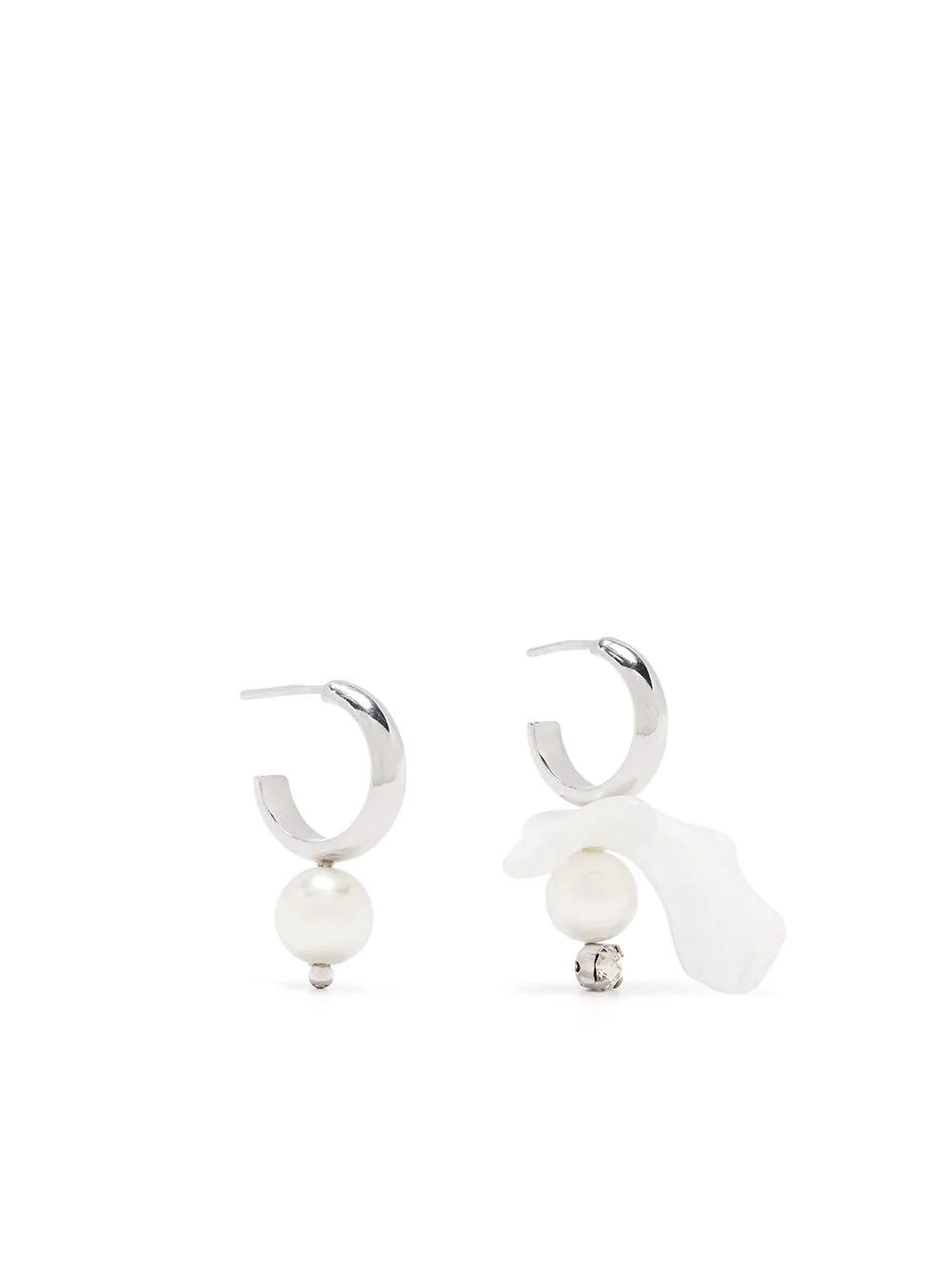 MIX-MATCH MOTHER OF PEARL HOOP EARRING