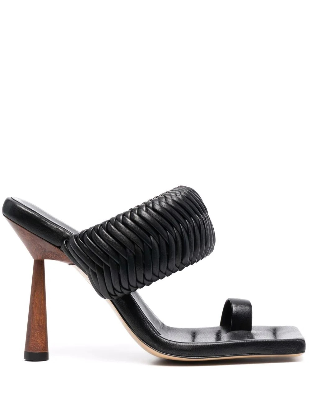 ROSIE1 Toe ring mule with woven strap in