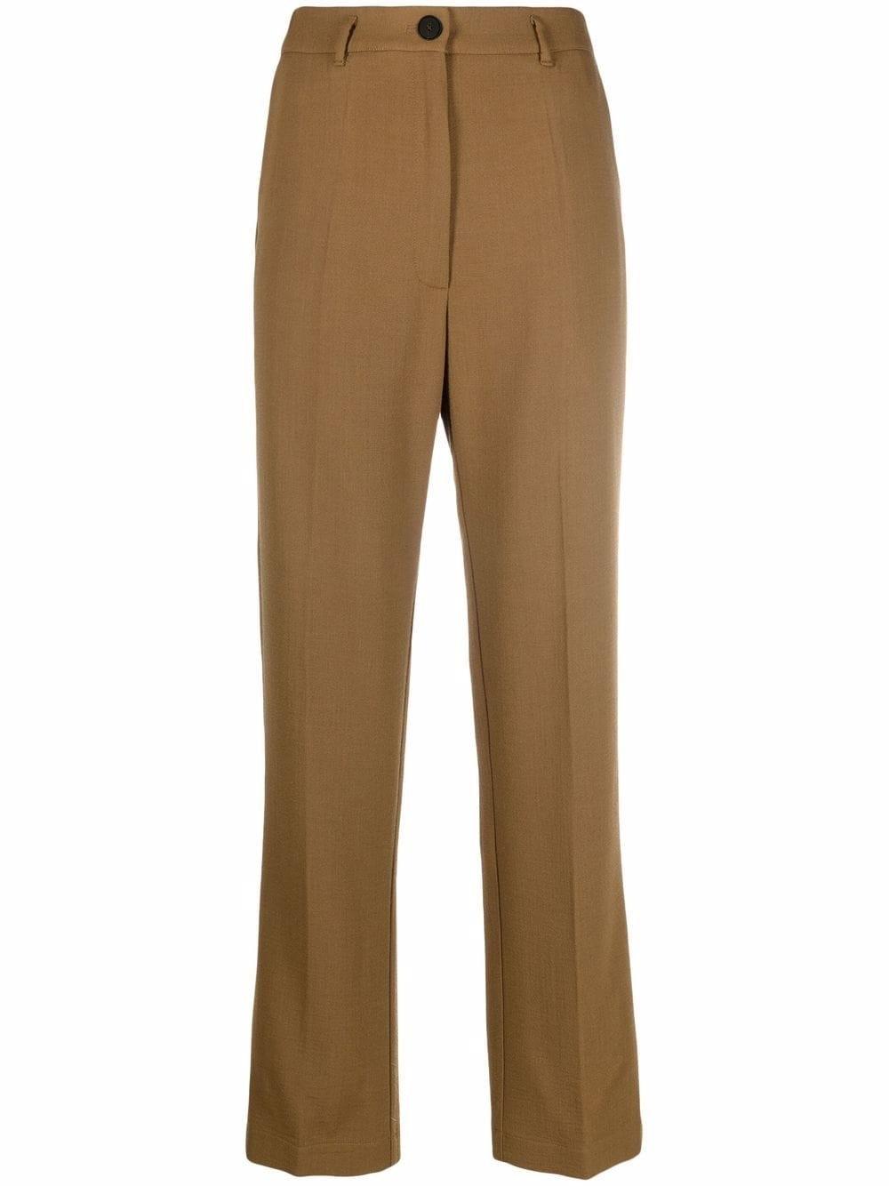 Pantalone doppio crepe lana viscosa