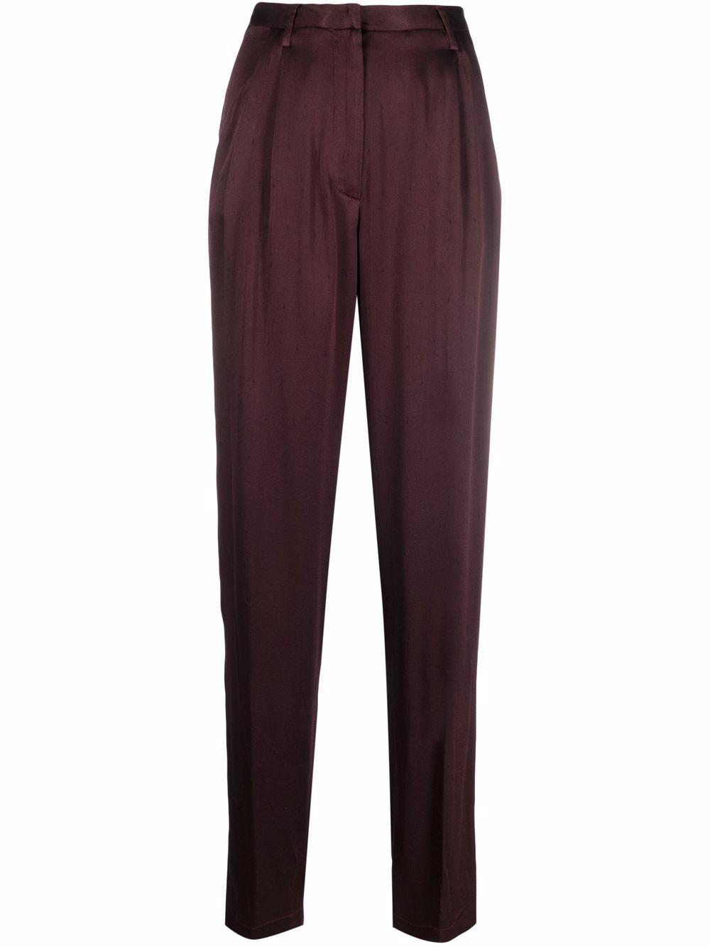 Pantalone pieghe raso seta diamantato